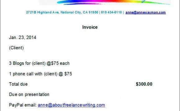 Writing invoice