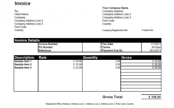 Basic Invoice Template in Word