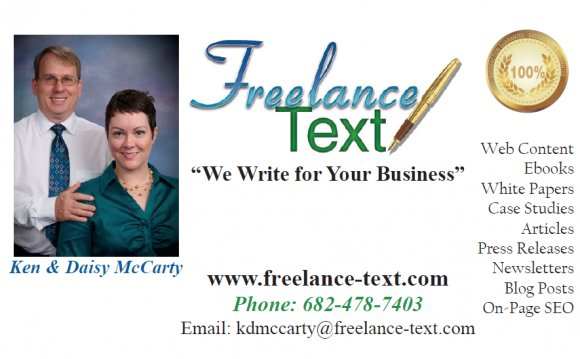 Freelance writer Business cards