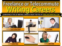 TELECOMMUTE WRITING CAREERS