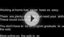 Work At Home Online Writing Jobs