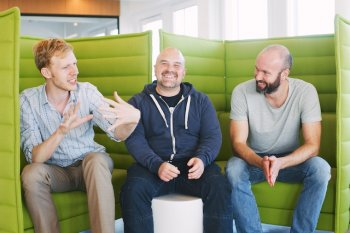 Wouter, Daniel, Aaron from the Podio team